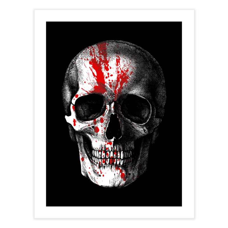 blood 'n' bone Home Fine Art Print by Brimstone Designs