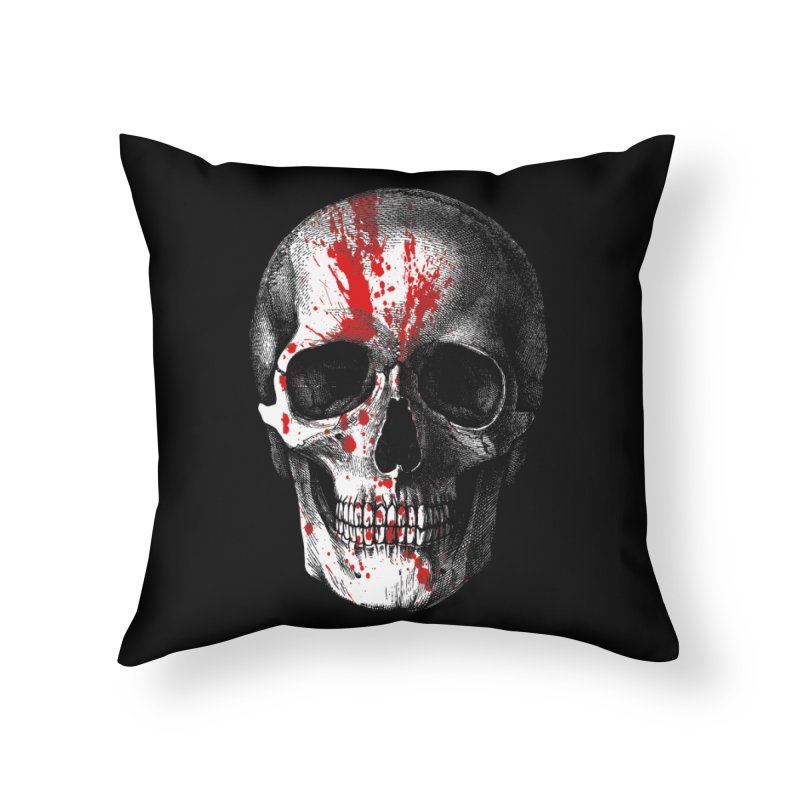 blood 'n' bone Home Throw Pillow by Brimstone Designs