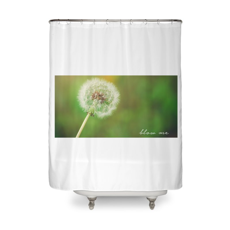 blow me Home Shower Curtain by Brimstone Designs