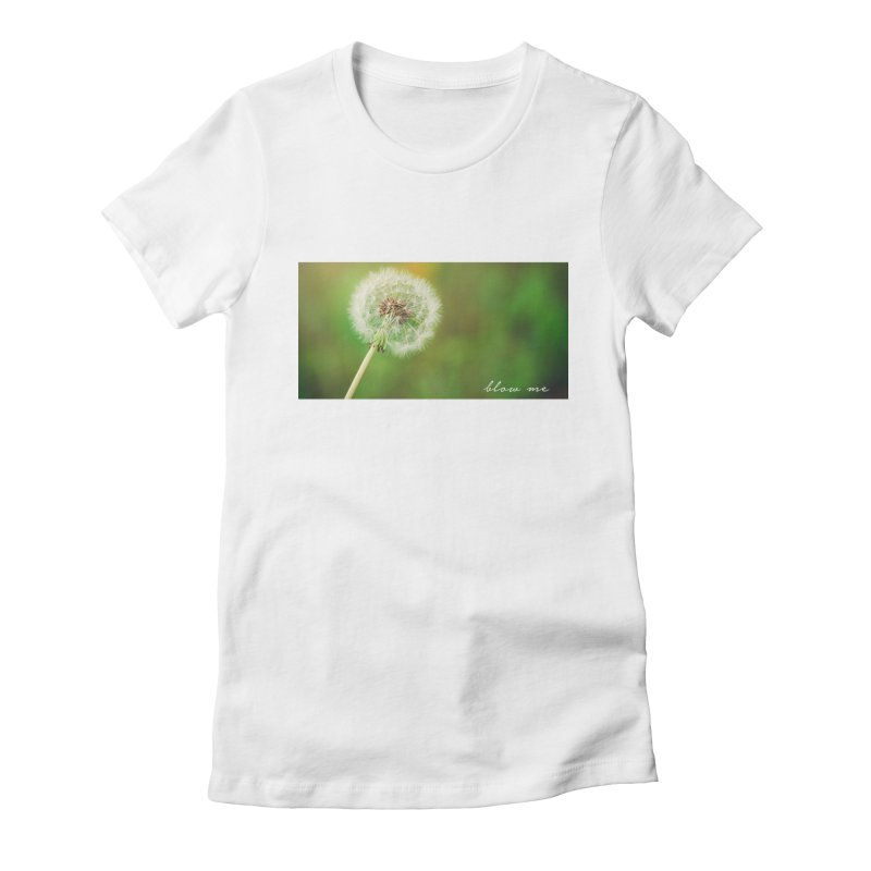 blow me Women's Fitted T-Shirt by Brimstone Designs