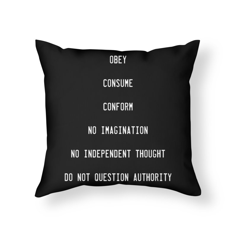 SUBLIMINAL Home Throw Pillow by Brimstone Designs