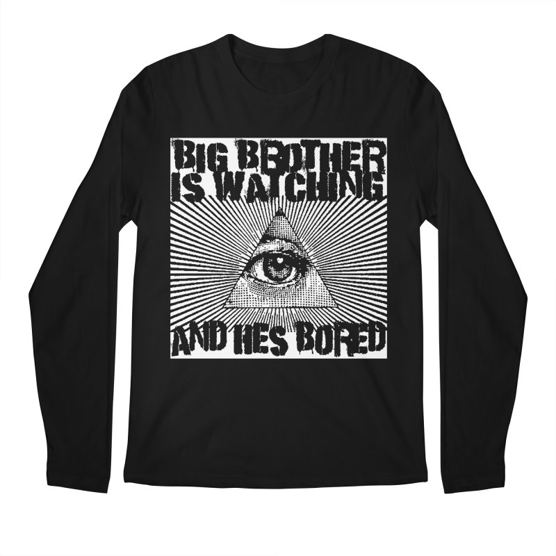 BIG BROTHER'S BORED Men's Longsleeve T-Shirt by Brimstone Designs