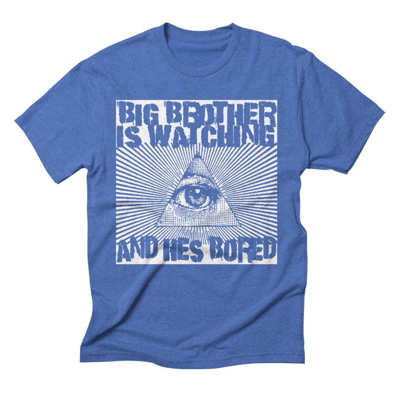 BIG BROTHER'S BORED Men's Triblend T-Shirt by Brimstone Designs