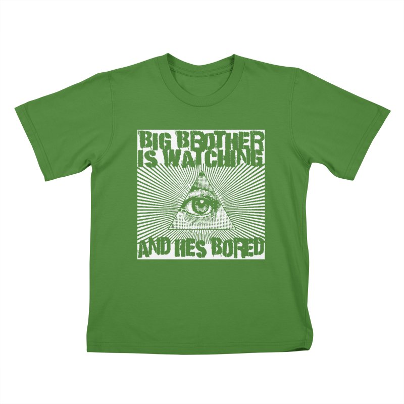 BIG BROTHER'S BORED Kids T-Shirt by Brimstone Designs