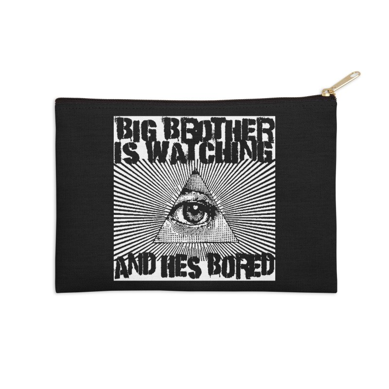 BIG BROTHER'S BORED Accessories Zip Pouch by Brimstone Designs