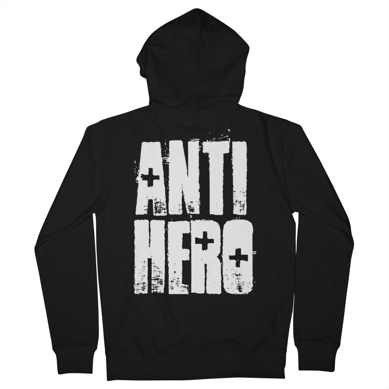 anti hero Men's Zip-Up Hoody by Brimstone Designs