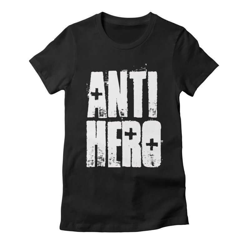 anti hero Women's Fitted T-Shirt by Brimstone Designs