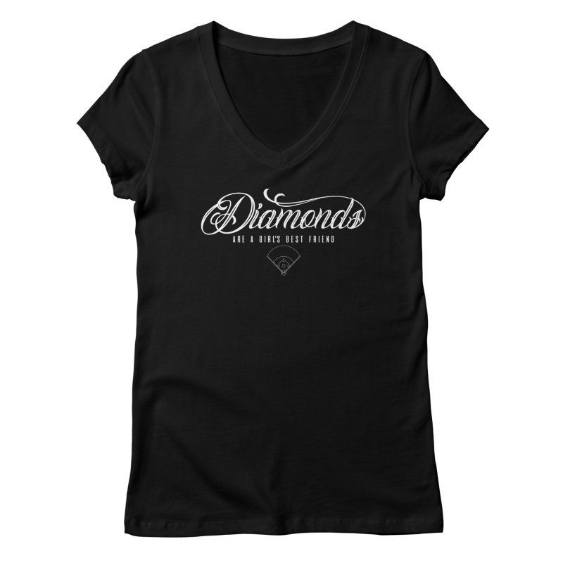 Diamonds Women's V-Neck by Brimstone Designs