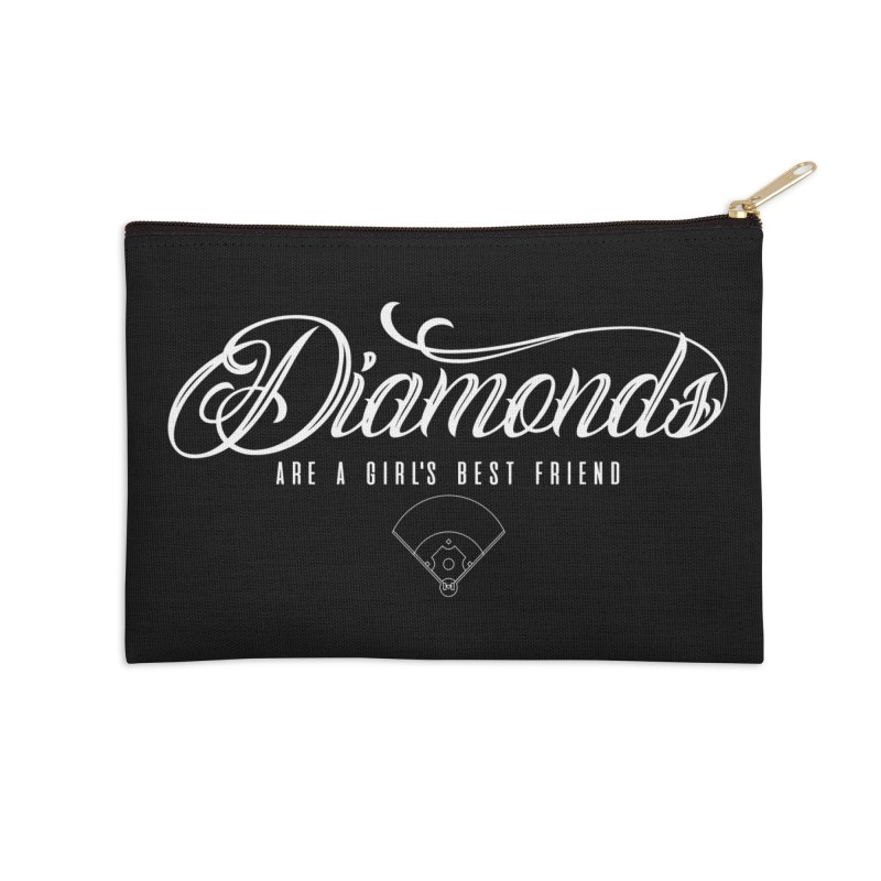 Diamonds Accessories Zip Pouch by Brimstone Designs