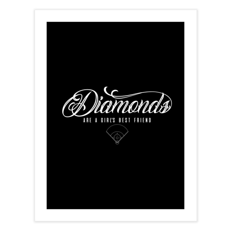 Diamonds Home Fine Art Print by Brimstone Designs
