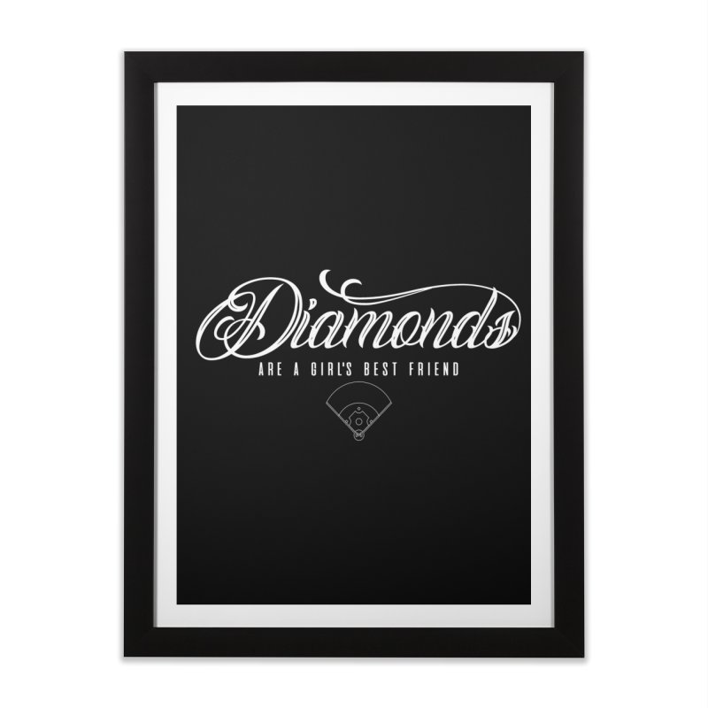 Diamonds Home Framed Fine Art Print by Brimstone Designs