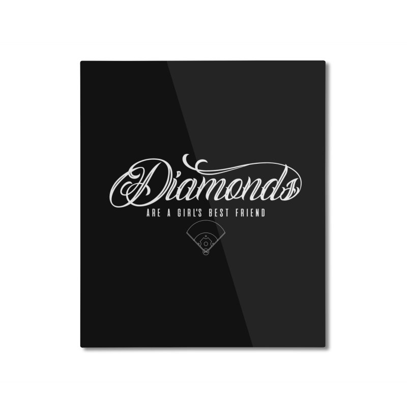 Diamonds Home Mounted Aluminum Print by Brimstone Designs