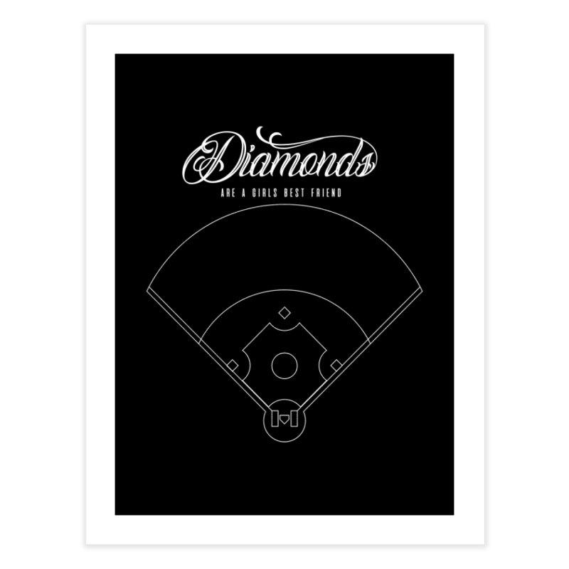 Diamonds Home Fine Art Print by Brimstone Designs