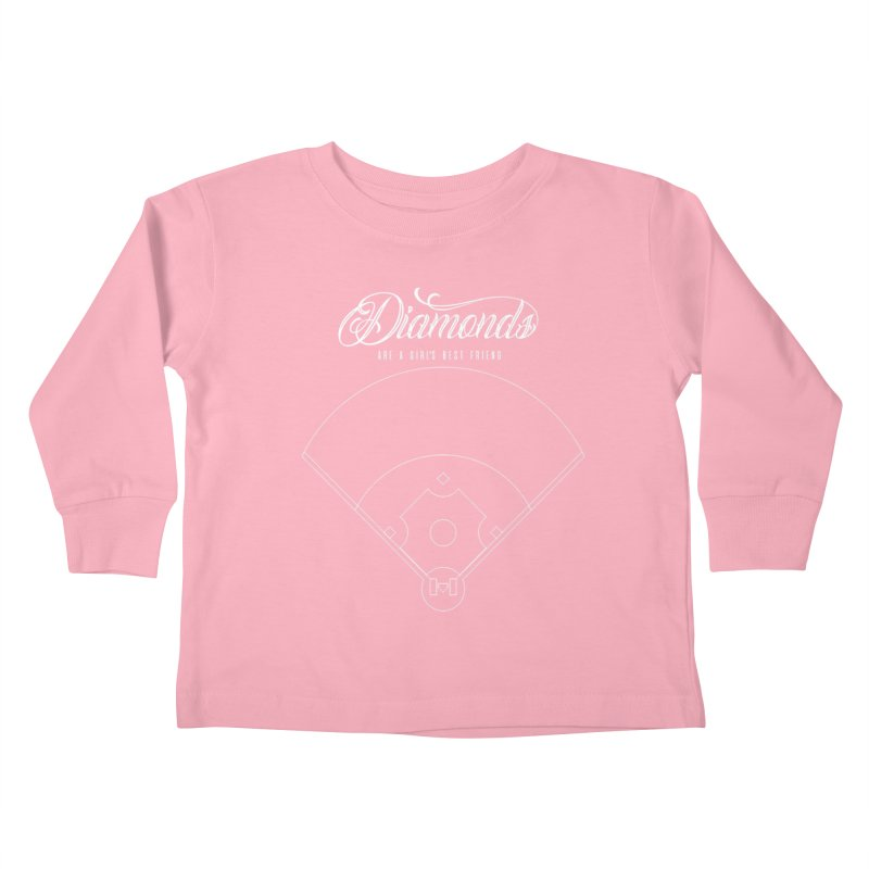 Diamonds Kids Toddler Longsleeve T-Shirt by Brimstone Designs