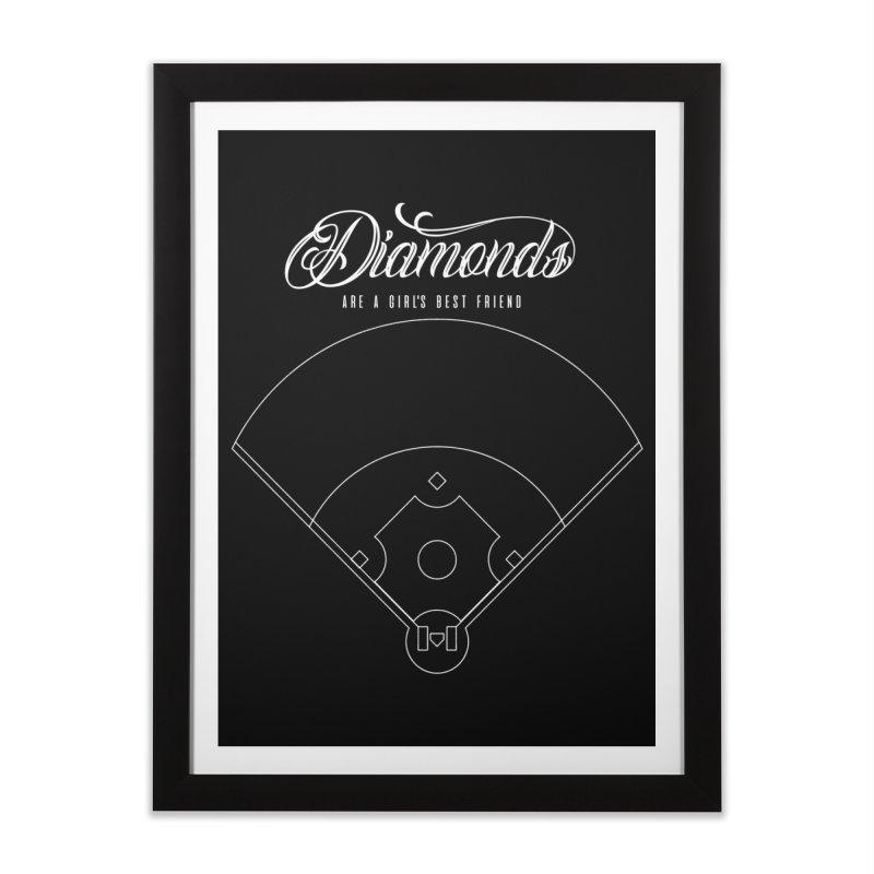 Diamonds Home Framed Fine Art Print by Brimstone Designs
