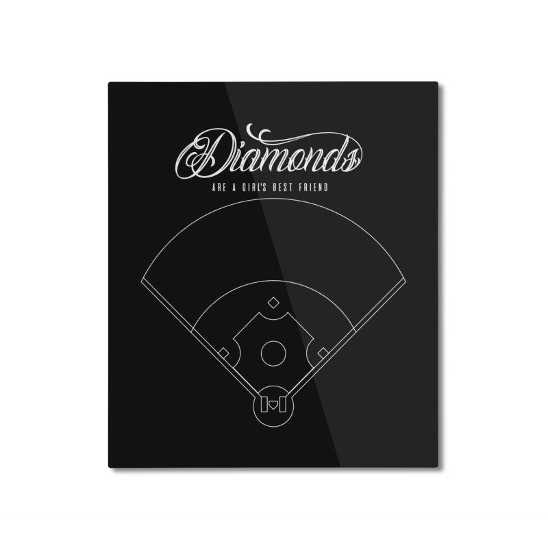Diamonds Home Mounted Aluminum Print by Brimstone Designs