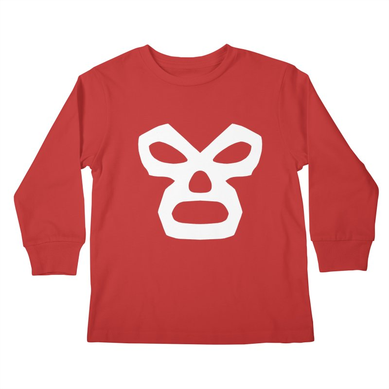 LUCHADOR Kids Longsleeve T-Shirt by Brimstone Designs