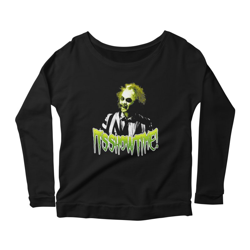 SHOWTIME Women's Longsleeve Scoopneck  by Brimstone Designs