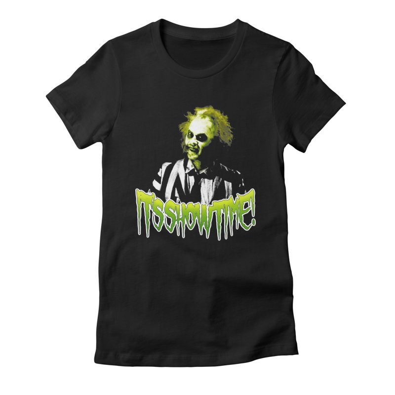 SHOWTIME Women's Fitted T-Shirt by Brimstone Designs