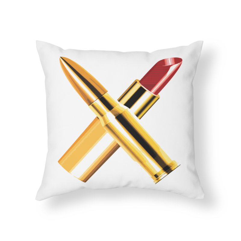 KISSKISS BANGBANG Home Throw Pillow by Brimstone Designs