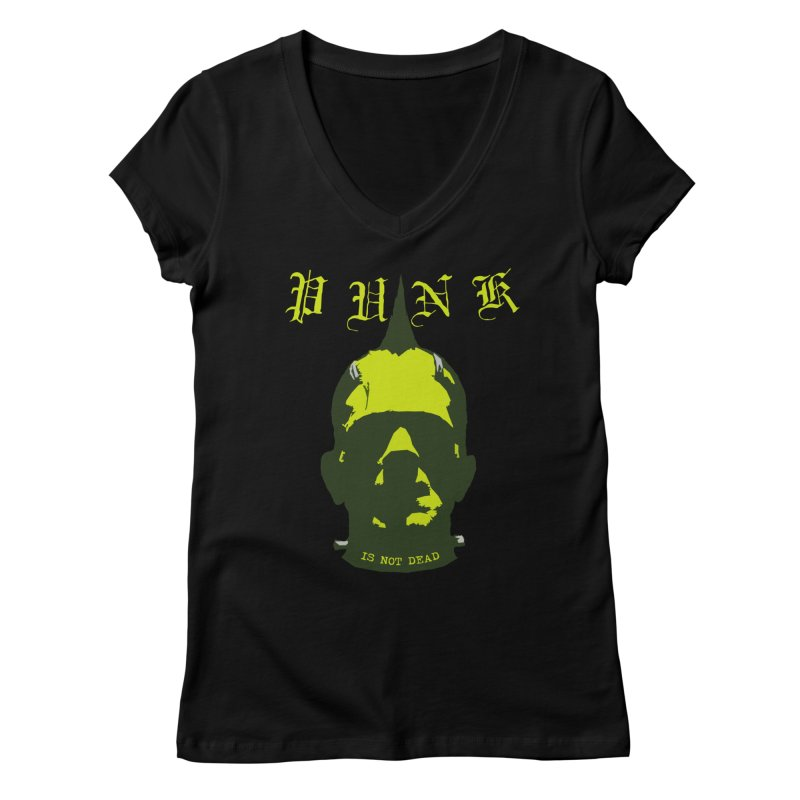 PUNK IS NOT DEAD Women's V-Neck by Brimstone Designs