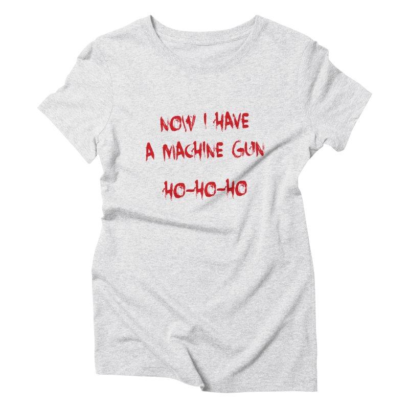 DIE HARD CHRISTMAS Women's Triblend T-Shirt by Brimstone Designs