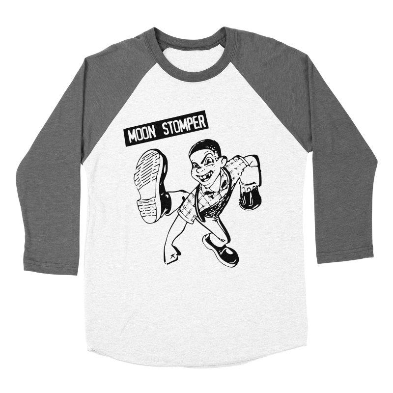 MOON STOMPER Women's Baseball Triblend T-Shirt by Brimstone Designs
