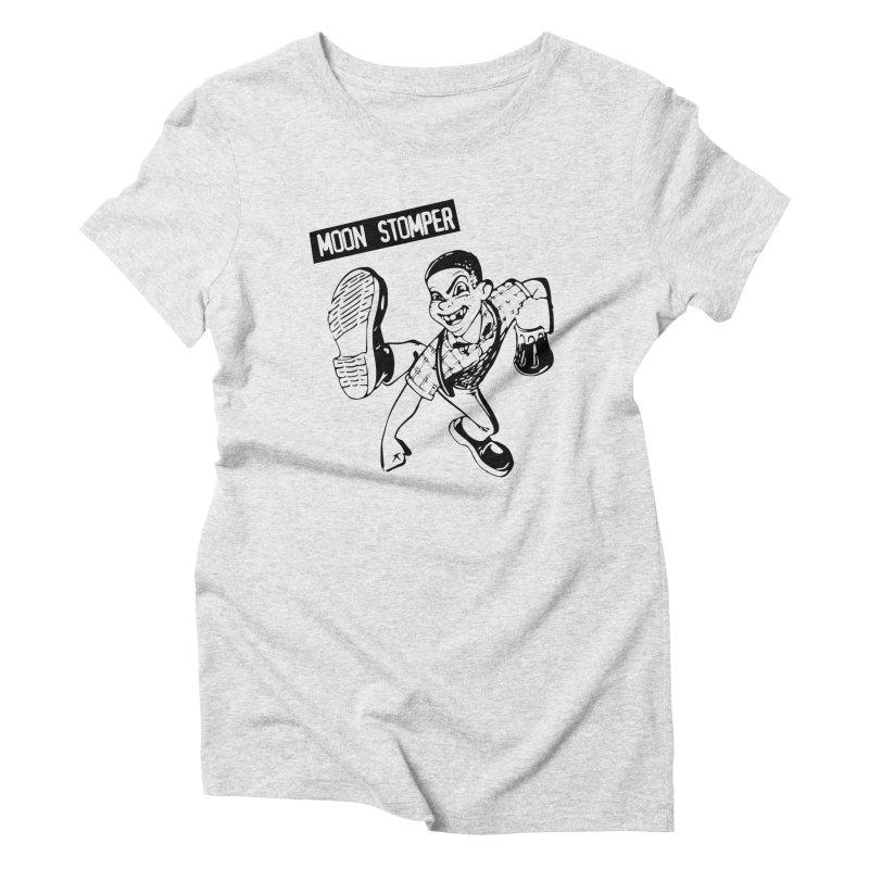 MOON STOMPER Women's Triblend T-Shirt by Brimstone Designs