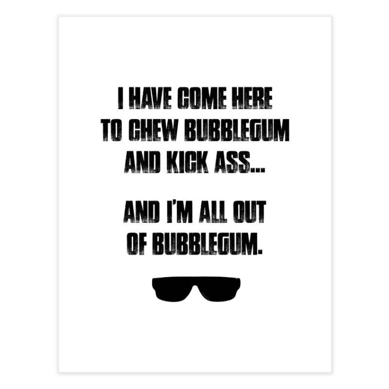 BUBBLEGUM Home Fine Art Print by Brimstone Designs