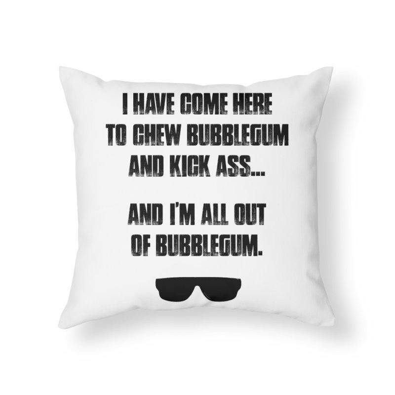 BUBBLEGUM Home Throw Pillow by Brimstone Designs