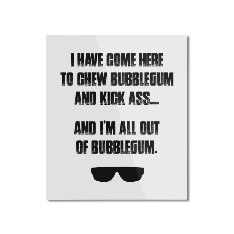 BUBBLEGUM Home Mounted Aluminum Print by Brimstone Designs