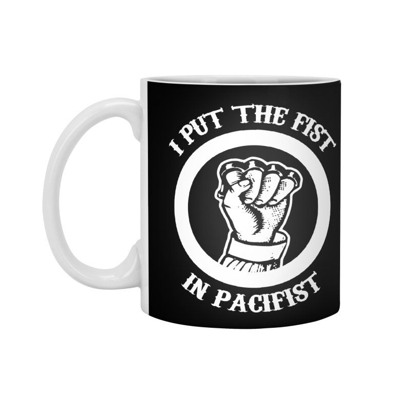 paciFIST Accessories Mug by Brimstone Designs