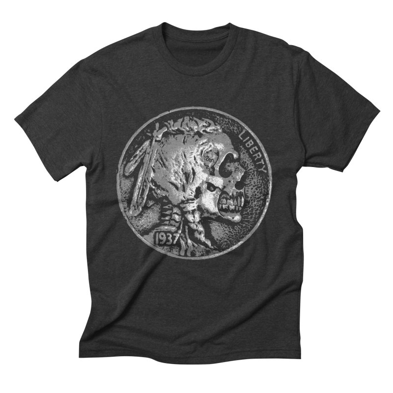 HOBO NICKEL Men's Triblend T-Shirt by Brimstone Designs