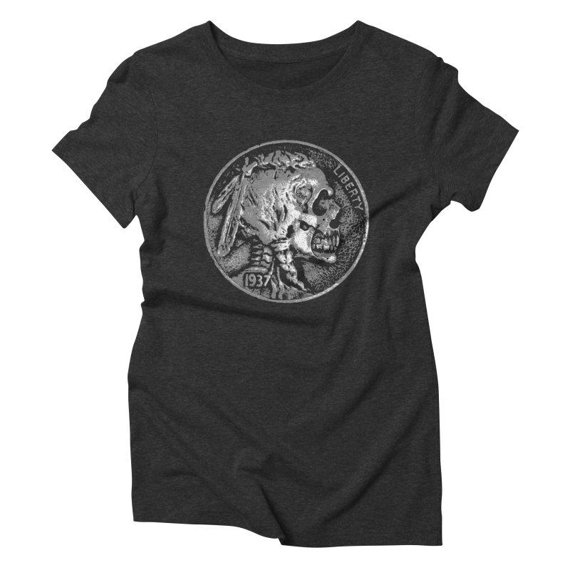 HOBO NICKEL Women's Triblend T-Shirt by Brimstone Designs