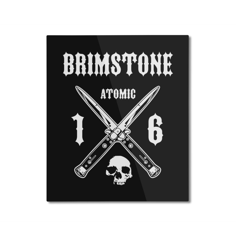 SWITCHBLADES Home Mounted Aluminum Print by Brimstone Designs