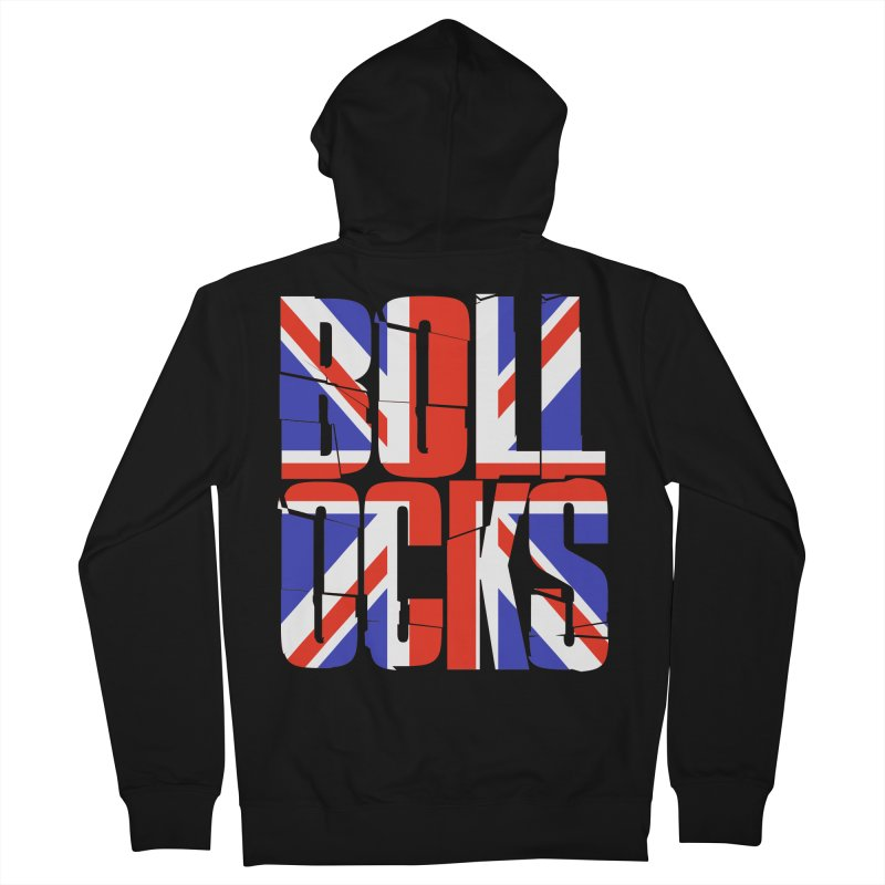 BOLLOCKS Men's French Terry Zip-Up Hoody by Brimstone Designs