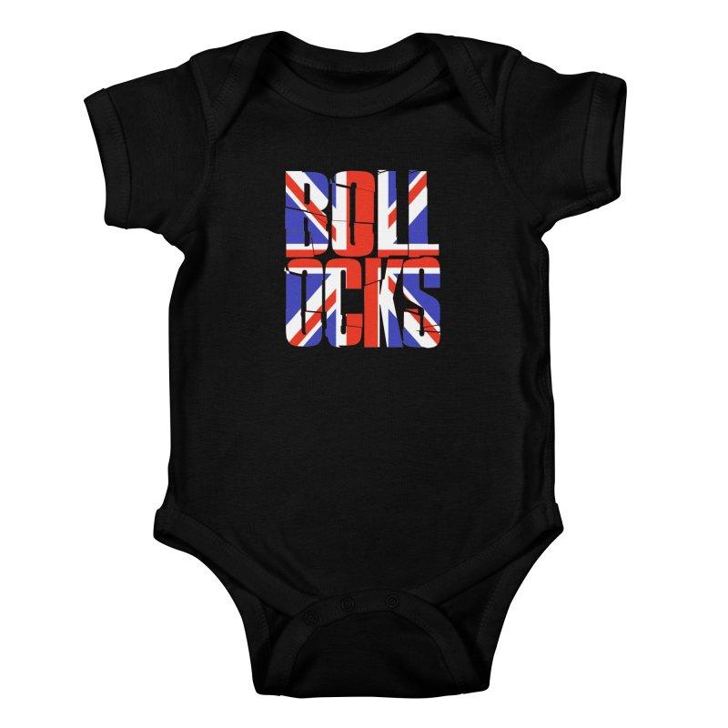 BOLLOCKS Kids Baby Bodysuit by Brimstone Designs