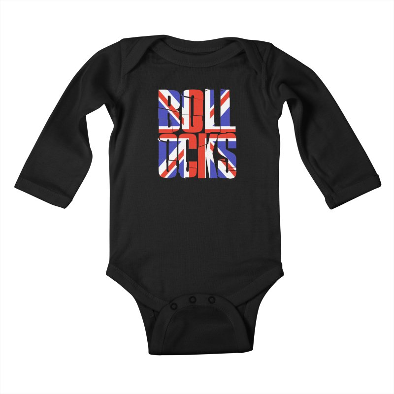 BOLLOCKS Kids Baby Longsleeve Bodysuit by Brimstone Designs