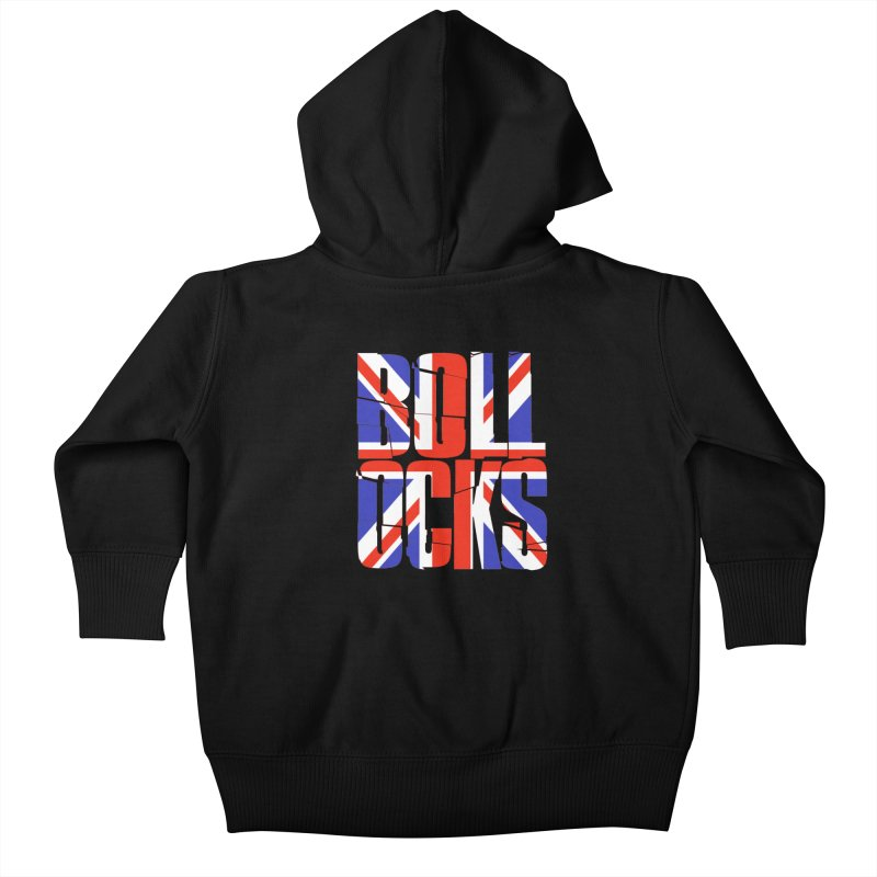 BOLLOCKS Kids Baby Zip-Up Hoody by Brimstone Designs