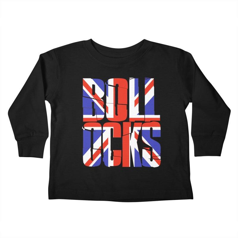 BOLLOCKS Kids Toddler Longsleeve T-Shirt by Brimstone Designs