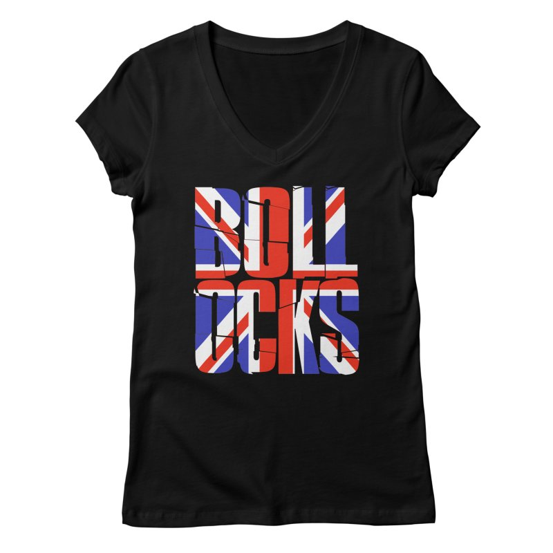 BOLLOCKS Women's V-Neck by Brimstone Designs