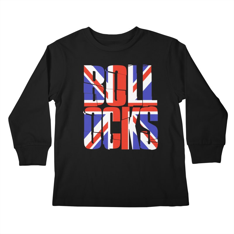 BOLLOCKS Kids Longsleeve T-Shirt by Brimstone Designs