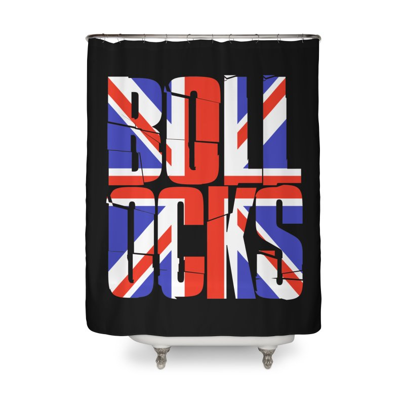 BOLLOCKS Home Shower Curtain by Brimstone Designs