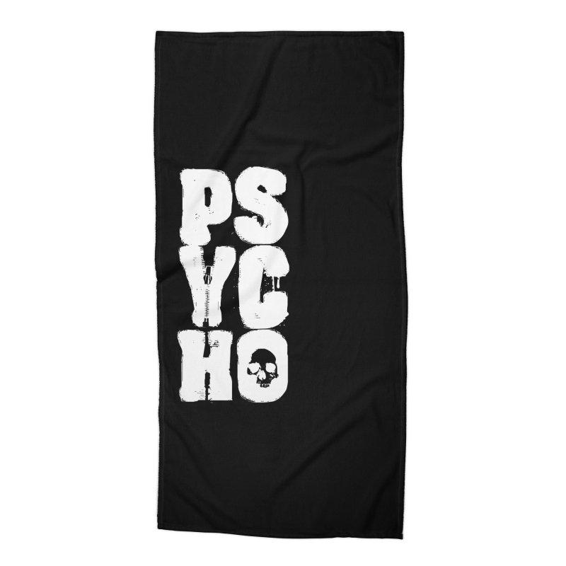 PSYCHO Accessories Beach Towel by Brimstone Designs