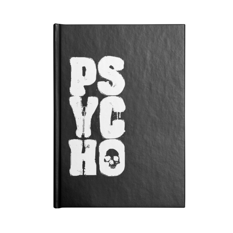 PSYCHO Accessories Notebook by Brimstone Designs