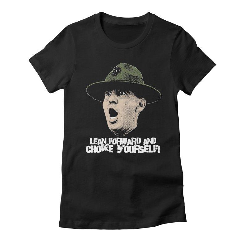 CHOKE Women's Fitted T-Shirt by Brimstone Designs