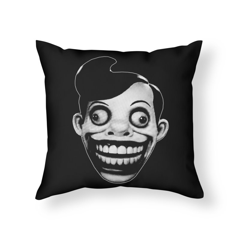 Chuckle Teeth Home Throw Pillow by Brimstone Designs