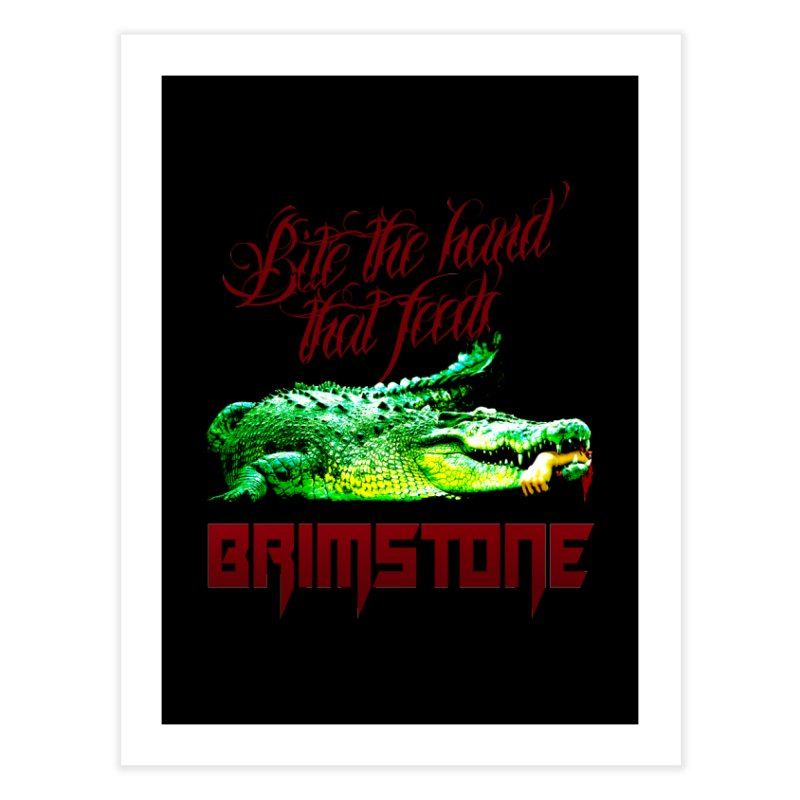 killer crock Home Fine Art Print by Brimstone Designs