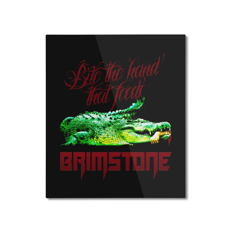 killer crock Home Mounted Aluminum Print by Brimstone Designs
