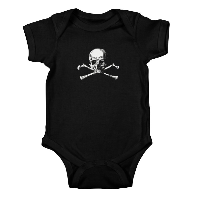 Jolly Roger Kids Baby Bodysuit by Brimstone Designs
